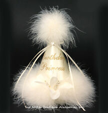 Birthday Princess Party Hat Crown Ivory Marabou Gold Glitter One Size Baby Girls