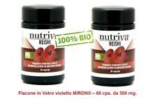 2 Confezioni di REISHI - GANODERMA LUCIDUM  -  NUTRIVA - 100% BIO - PURO