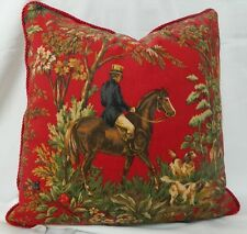 RALPH LAUREN Ainsworth Equestrian Canterbury Red Decorative Pillow Cover /18x18