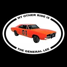 "New ""MY OTHER RIDE IS THE GENERAL LEE"" Dukes of Hazzard DECAL bumper sticker"