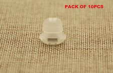 10PCS SAAB DASH BOARD TRIM INSERTS CLIPS GROMMETS CLEAR INTERIOR OVAL SHAPE