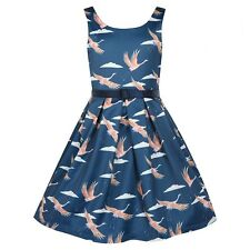 GORGEOUS LINDY BOP MINI LANA CRANES VINTAGE 1940'S  PARTY  DRESS - 11-12 Years