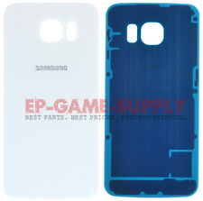 For Samsung Galaxy S6 Battery Cover Rear Door Back Glass White