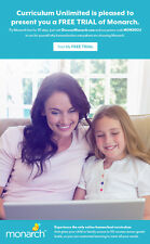 Try 30 day FREE TRIAL of Monarch Homeschool Curriculum for .01, Alpha Omega