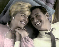 "DORIS DAY ROCK HUDSON PILLOW TALK 1959 ACTORS 8X10"" HAND COLOR TINTED PHOTOGRAPH"