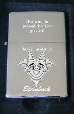 Steinbock Sternzeichen Feuerzeug Steinbock als Bildgravur inkl. Textgravur