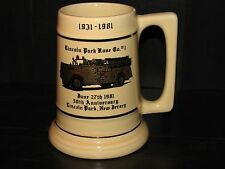 Lincoln Park Fire Department New Jersey Beer Mug 1981 ceramic stein Starcrest NJ