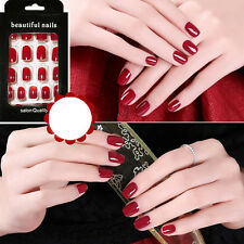 24pcs False Nail Tips Kiss Sexy Red  Outline Beauty Fashion Style Hot