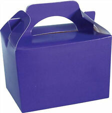 10 Purple Party Boxes - Food Loot Lunch Cardboard Gift Wedding/Kids