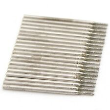 20Pcs 1 mm Diamond Coated Hole Saw Drill Solid Bits for Jewelry Gems Glass Tile