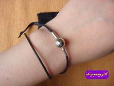 PANDORA Essence Textile Black Double Strand Bracelet 596001CBK-D1 (33cm Small)
