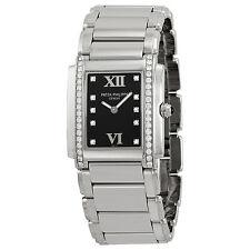 Patek Philippe Twenty-4 Black Dial Steel Diamond Ladies Watch 4910-10A-001