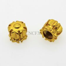 New 2 Alloy Tyre Tire Alloy Wheel Dust Valve Caps Universal Car Bike Cycle Gold