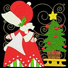 SUNBONNET SUE CHRISTMAS- 24 MACHINE EMBROIDERY DESIGNS (AZEB)