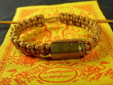 Buddha Sacred BULLET CORD BRACELET blessed Buddhist Monk for PROTECTION PHA YANT