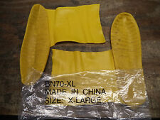 Latex Yellow Overboots Extra Large Fits Over Sizes 11-13 BN70-XL