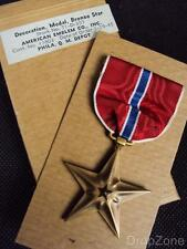 Genuine WWII US Army Bronze Star Medal / Decoration in Original Issue Box