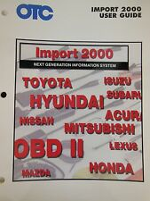 OTC On-Board Diagnostics OBD-II User Guide for IMPORT 2000 Toyota Honda Lexus