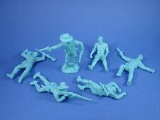 Plastic Toy Soldiers 7th Cavalry Civil War Casualty Set 54mm 6 Figures Blue 1/32