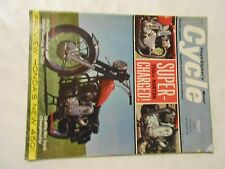 AUGUST 1965 CYCLE MAGAZINE.SUPERCHARGED NORTON 750,HONDA 450,BSA 650,WHITE 250
