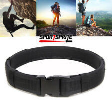 """1.5"""" Black Quick Release Military Trouser Belt Army Tactical Canvas Webbing"""