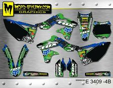 Kawasaki KX 250f 2013 up to 2016 graphics decals kit Moto StyleMX
