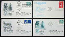 US postage set of 4 covers Lincoln Sesquicentennial Stamp FDC USA lettere (h-8318
