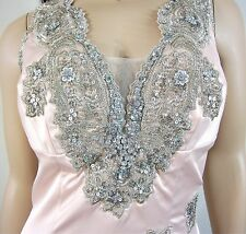 Julian Joyce by Mandalay Crystal Sequined Dress in Blush Size 8 NWT