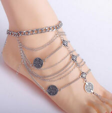 Fashion Sexy Silver Anklet Chain Ankle Bracelet Foot Jewelry Barefoot Sandal NEW