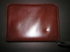 Franklin Covey Classic Prima Italia Leather Zipper 7 Ring Binder Planner 1 1/2""