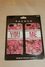 Pacsun You Me Roses I Love You Iphone 5 5s Cases Lot of 2 Cases New