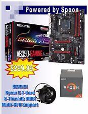 COMBO: AMD Ryzen 5 1400 4-CORE 8-Thread CPU & Gigabyte GA-AB350-Gaming ATX