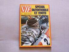 SCIENCE ET VIE HORS SERIE SPECIAL  AUTOMOBILE ET  MOTO  1972
