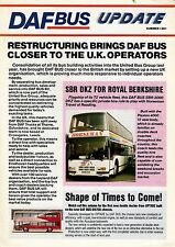 Newsletter - DAF Bus Update: Summer 1991 - SB220: Geoff Amos: Wallace Arnold etc