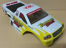 1/10 RC Monster Truck fuera de carretera Body Shell Amarillo Y Blanco