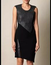 BNWT 100% Auth Helmut Lang Lamb Leather Black Dress. 8 £790