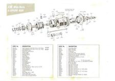 STURMEY ARCHER AW Wide Ratio 3-Speed HUB exploded view leaflet + user adjustment