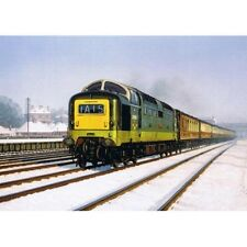 Class 55 Deltic Diesel Locomotive Engine Railway Train Christmas Xmas Card