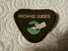@ VINTAGE SEW ON PATCH - BROWNIE GUIDES - WORLDWIDE - FRIENDSHIP - OBSOLETE  (A)