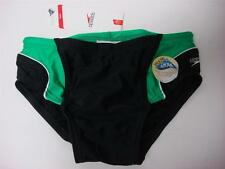 Youth 28 Boy's Speedo Lycra Racing Swimming Swim Brief suit bottom Black/Green