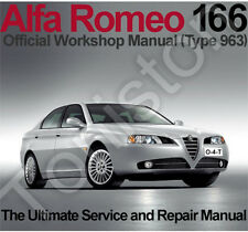 Alfa Romeo 166 1998 to 2007 (Type 963) Workshop, Service and Repair Manual on CD