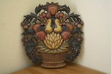 VINTAGE 1966 DART INDUSTRIES FRUIT BASKET WALL PLAQUE SYROCO USA #5260 B