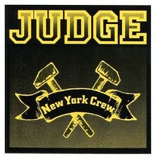 JUDGE new york crew STICKER (yellow) window bumper punk hardcore what it meant