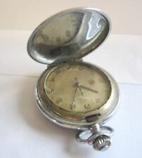 Rare Vintage ROSKOPF Military Issued Pocket Watch Hour-Minute-Second Hands Swiss
