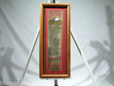 "1862 INTERNATIONAL EXPOSITION ""ODE BY ALFRED TENNYSON"" WOVEN SILK RIBBON"
