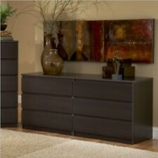 Tvilum SCOTTSDALE COFFEE 6 DRAWER DOUBLE DRESSER 816853018266 Made In Denmark