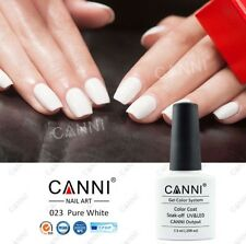 023 CANNI PURE WHITE UV LED SOAK OFF GEL COLORS NAIL ART 7.3ml UK SELLER