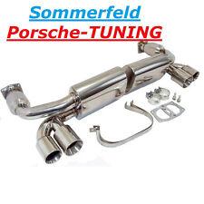 Porsche 996 Turbo GT2 Sportauspuff Doppelendrohr Leer Kat Sport Exhaust Muffler