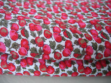 Vintage Fabric Jersey Cotton 3.6 metres NEW Red Apples