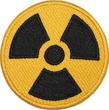 Atomic Waste Yellow Border Embroidered Patch Badge 7.5cm Wide Iron or Sew on